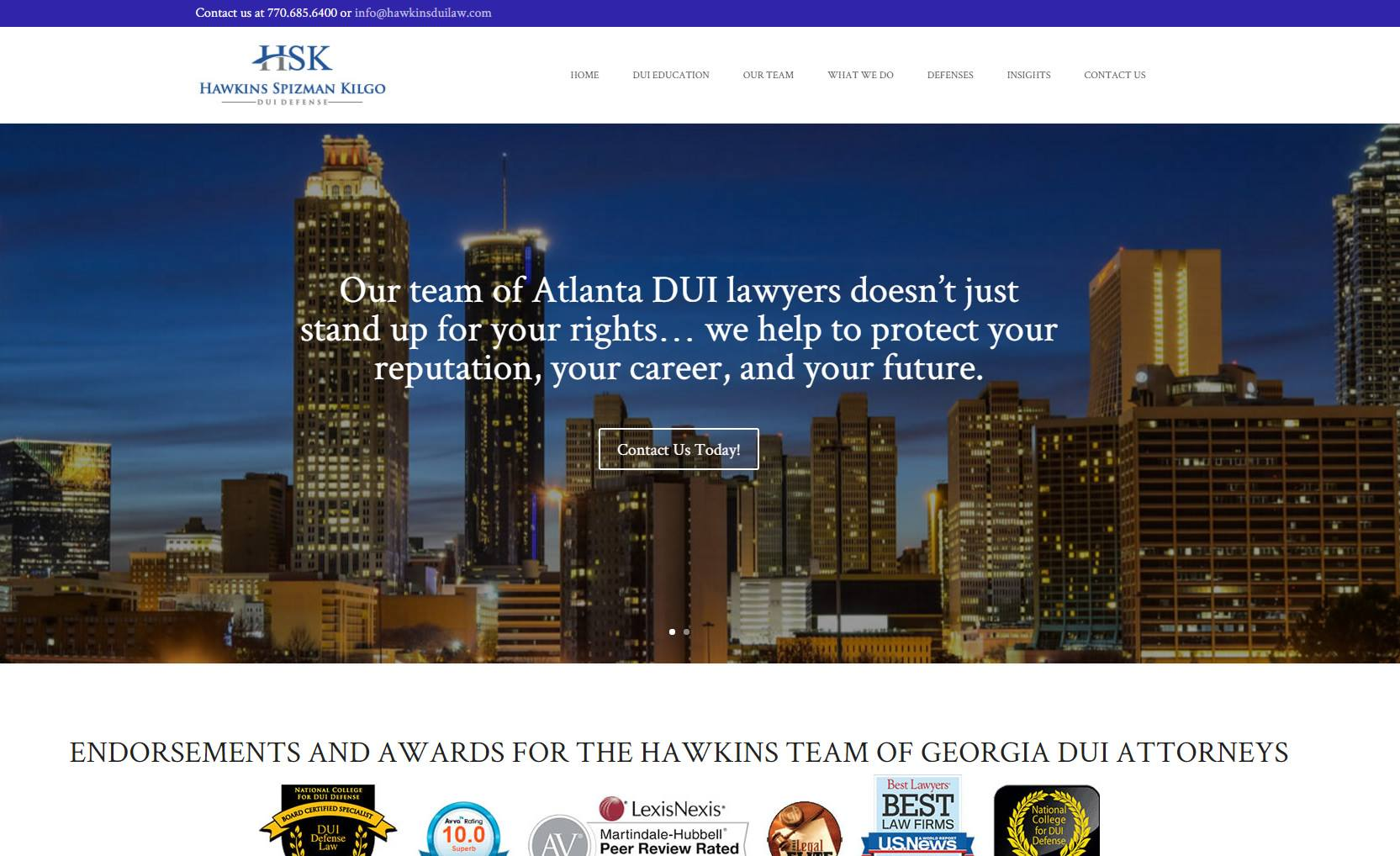 HSK Hawkins Spizman Kilgo DUI Defense Attorneys Atlanta GA