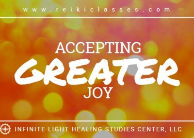 Accepting Greater Joy