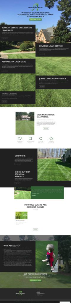Absolute Lawn Care - Landing Page