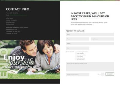 Absolute Lawn Care  - Contact Page
