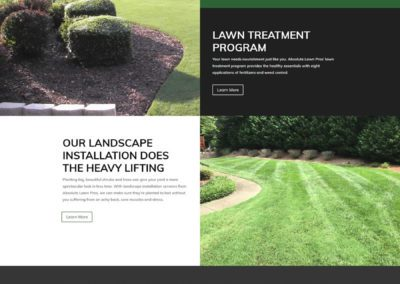 Absolute Lawn Care  - A Service Page